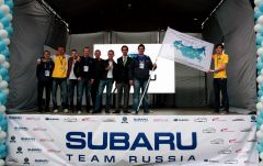 Активисты Всероссийского Клуба Subaru Impreza с представителем Guinness World Records Ltd. Бенжамином Бэкхаусом